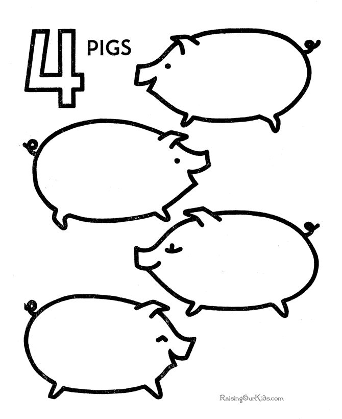 numbers coloring pages preschoolers - photo#44