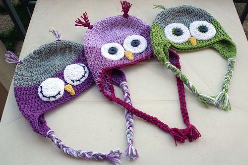 Baby owl hats!!!
