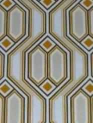oranje vierkantjes met beige en zwarte lijnen