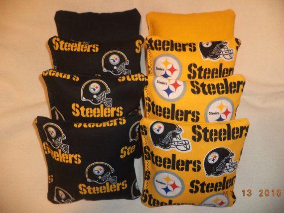 Cornhole bags Pittsburgh Steelers corn hole bean bags ACA