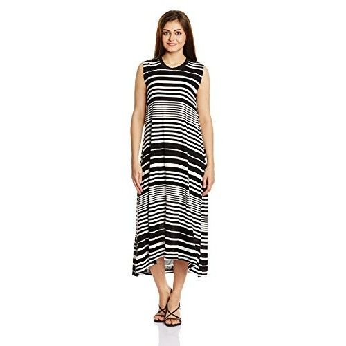 Chemistry Women Synthetic #Column #Dress (C15-024Kdldr _Black And White _X-Small)