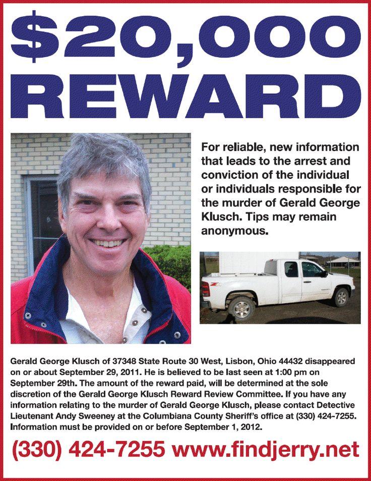 CrimePAY$ - $50,000 Missing Person Reward - Bradley Olsen - missing flyer template