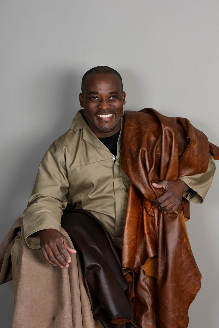 Thulani is our leather guru.