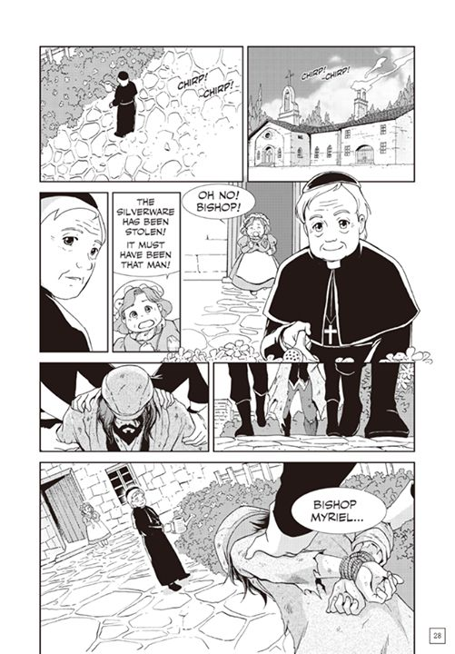 Page 25 of Manga Classics: Les Miserables first chapter. You can read the full chapter at  http://goo.gl/yIvaV4  #MangaClassics #LesMiserables #LesMis #LesMiz #VictorHugo #jeanvaljean #24601 #bishopmyriel