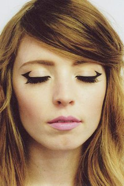 winged eyeliner that reminds us of space