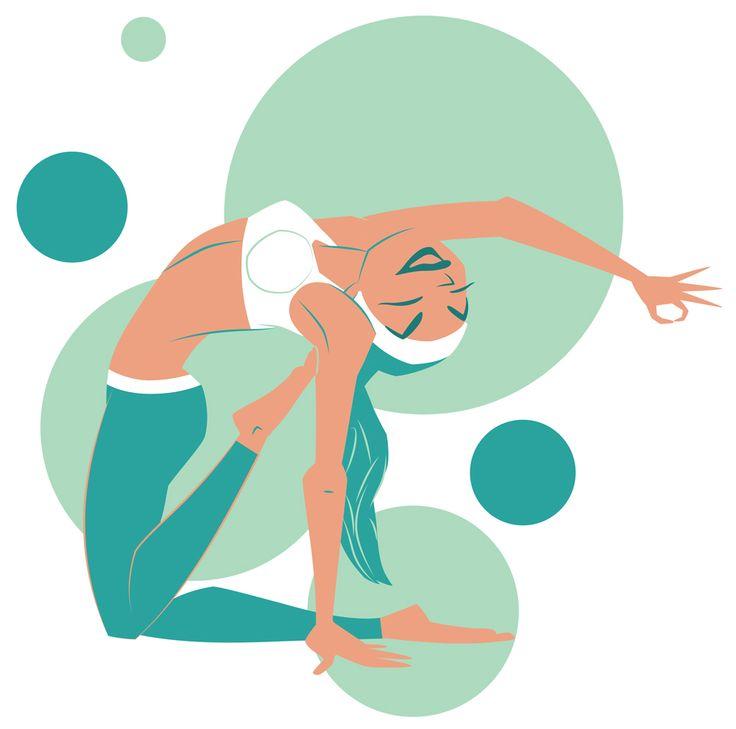 Yoga Project. Ardha Ustrasana, Half-camel Pose.