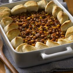 Sloppy Joe Biscuit Casserole ... a crowd-pleaser that only takes 20 minutes to prep!
