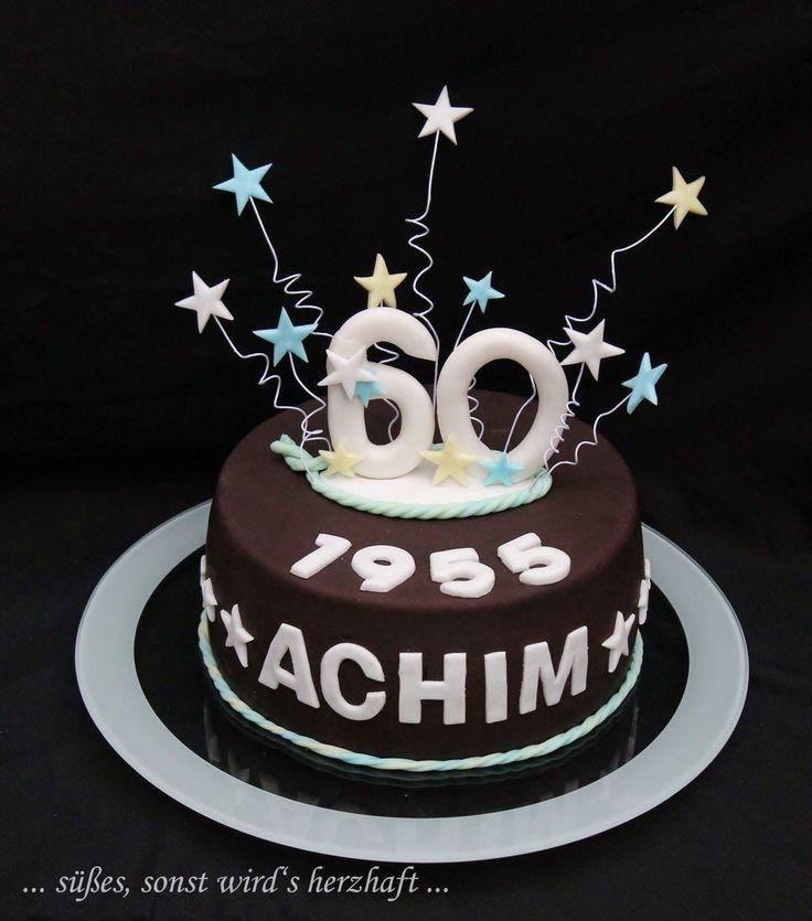 Torte zum Geburtstag, Torte für Männer, Torte zum 60. geburtstag, Torte mit Sternen auf draht, einfache torte, motivtorte für anfänger, schnelle torte, torte für onkel
