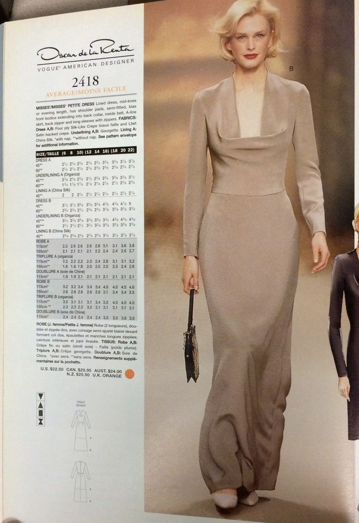 40 besten 90\'s Vogue Patterns Bilder auf Pinterest | 1990er, Vintage ...