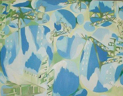 断片:見上げて/Fragments: looking up oil on canvas F100 2008