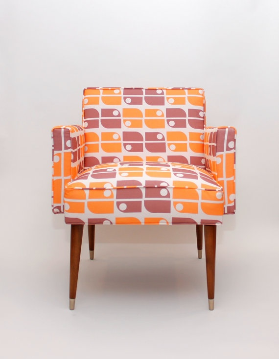 Mood Design Studio MOD Chair With Amazing Fabric From Holli Zollinger Mid Modern Living Room