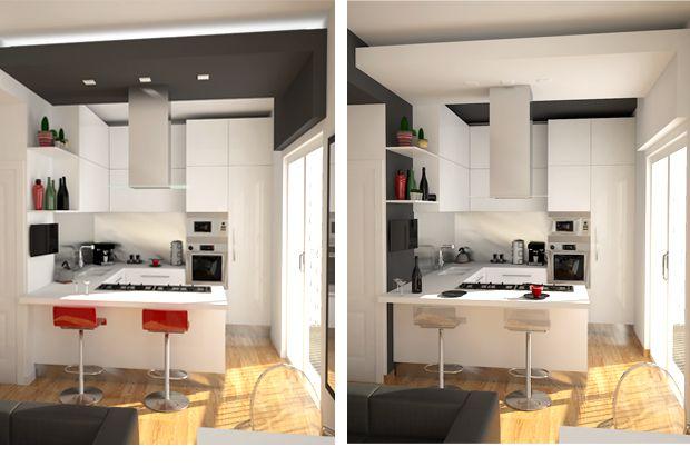 rendering modern kitchen