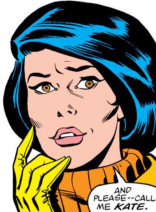 Kate Waynesboro of SHIELD (Hulk character) (Marvel Comics) smiling face closeup