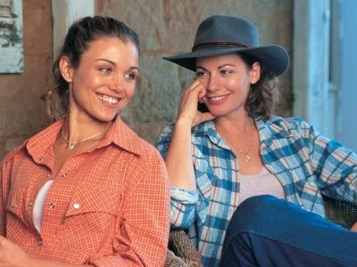 McClouds Daughters, Tess and Claire, sisters, laughing, having a good time, female, actress, portrait, giggle