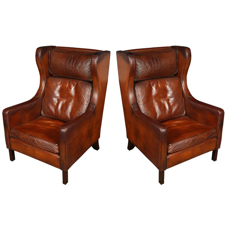 1stdibs pair of borge mogensen leather wingback chairs explore items from global dealers at