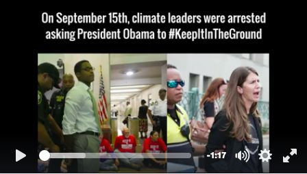 New video: 13 arrested to #KeepItInTheGround_Today, frontline activists and environmental leaders — including Rainforest Action Network Executive Director Lindsey Allen — put themselves on the line in Washington, D.C., to stop climate chaos.  Lindsey and 12 others were arrested after occupying the Department of the Interior calling on President Obama to keep fossil fuels in the ground.http://www.ran.org/call_president_obama #NoNewLeases #NoDAPL