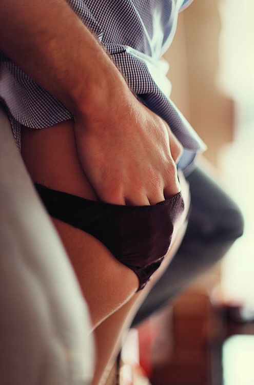 kissing her panties