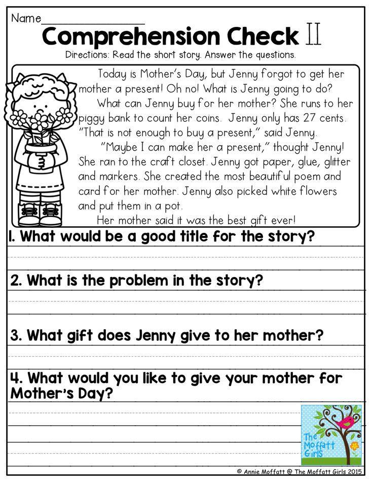 May NO PREP Math and Literacy (1st Grade) Reading