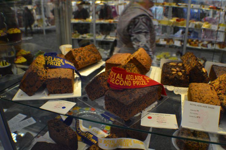 Delicious, prize winning Royal Adelaide Show fruitcake.