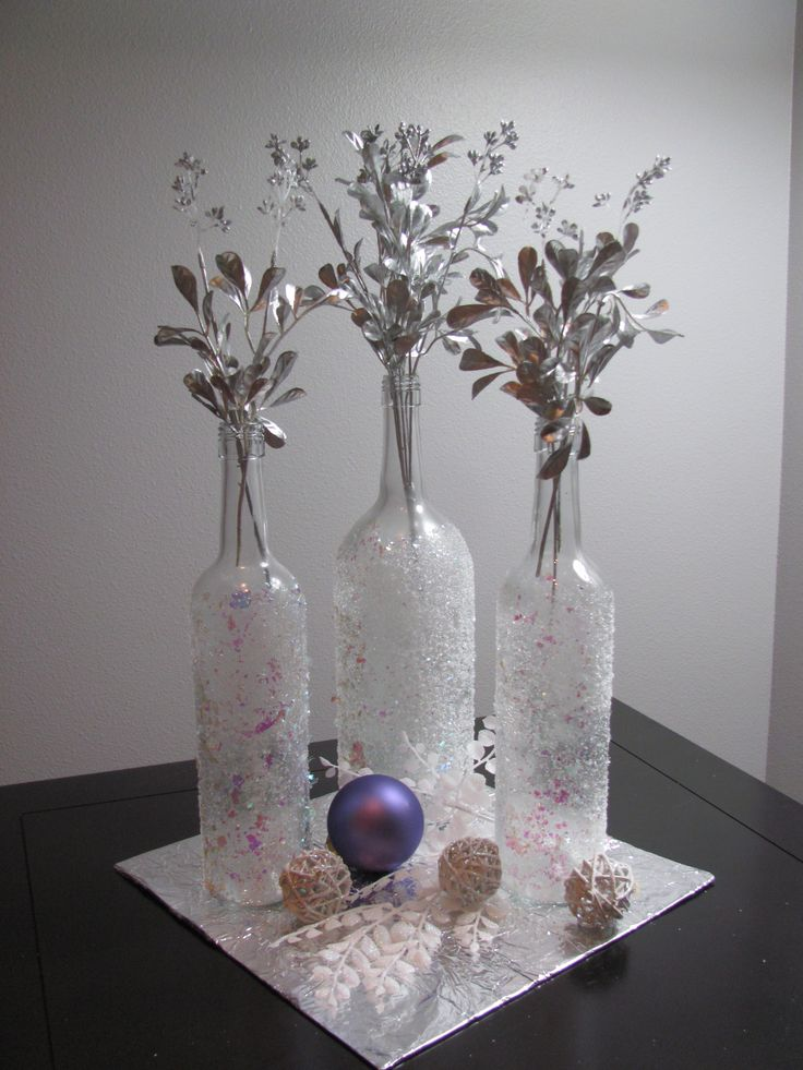 Easy Christmas Wine Bottle Craft