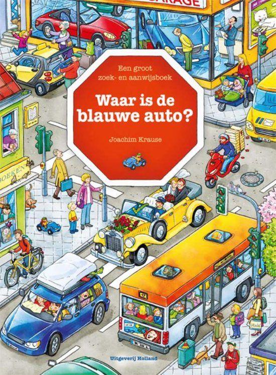 Waar is de blauwe auto