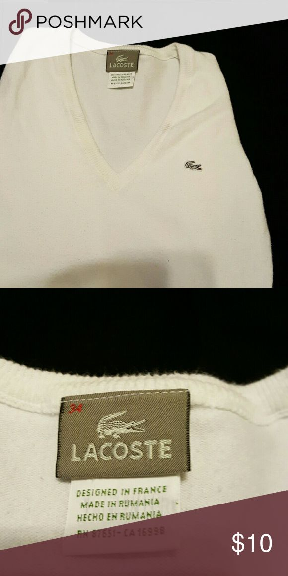 ??SALE?? LACOSTE SEWATER GUC, White Lacoate sweater Lacoste Shirts & Tops Sweaters