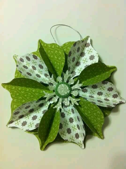 Stampin Up Christmas Ornament