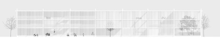 "Imberg Arkitekter - Proposal for ""Barnrum"" - A space for children in Stockholm. South elevation."