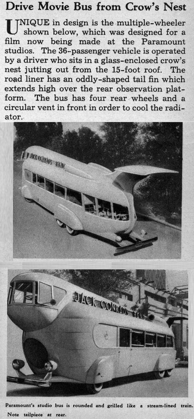 The Band Bus from the Movie Stolen Harmony, 1935