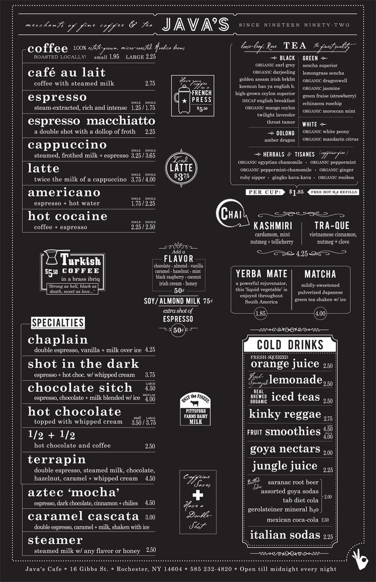 Menu Inspiration. Also Check Out For Drawers Of Tea Inspriation: Http://