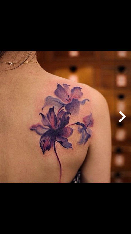 Flower tattoo no outline