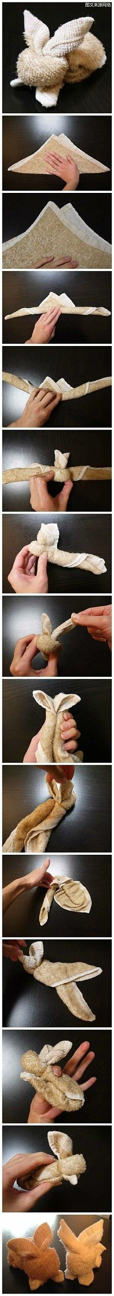 DIY: bunny towels  ******* website full