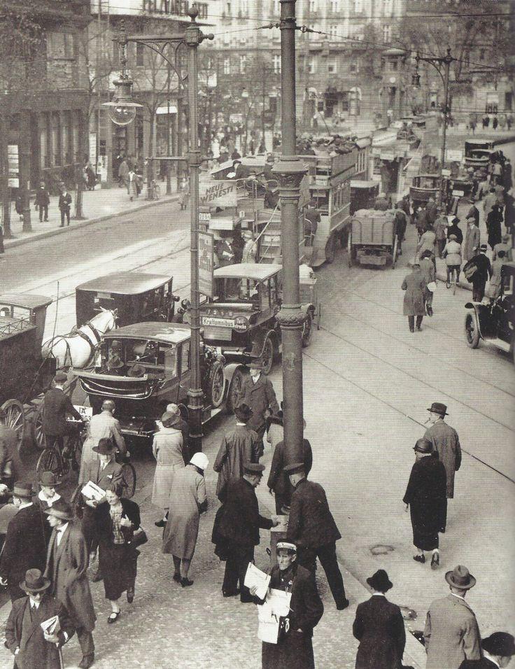 Germany. Traffic jam, Berlin, 1927