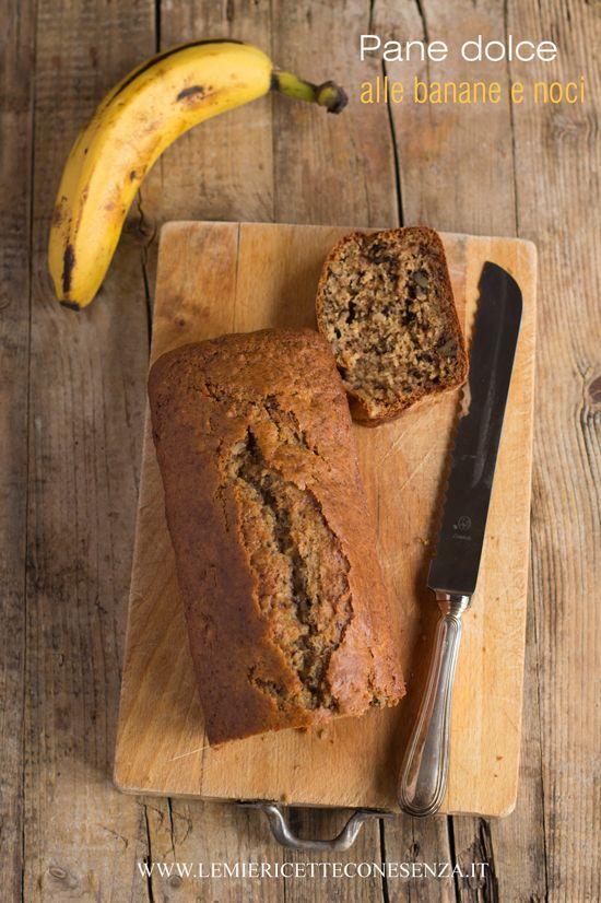 Pane dolce alle banane e noci, pandolce con banane e noci, ricetta senza burro, banana bread senza burro,Banana bread light