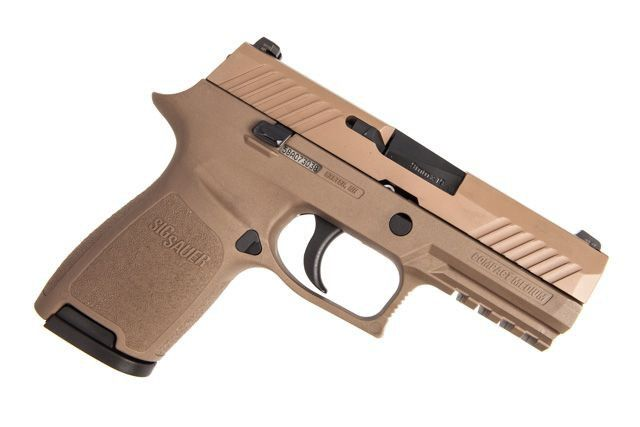Sig Sauer P320 Compact 9mm 3.9in FDE 15RD Pistol, 320C-9-FDE, by Sig Sauer, color Flat Dark Earth.
