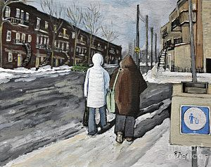 Painting - Walking On The Avenues by Reb Frost