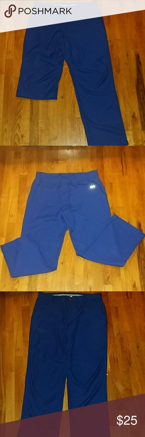 Men's Izod Golf Pants Lightweight, men's golf pants. Still in excellent condition! No stains or rips, only worn a few times. 100% polyester. Slim fit. Button /fly front. Izod Pants