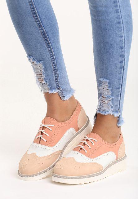 Pantofi Oxford Hema Roz