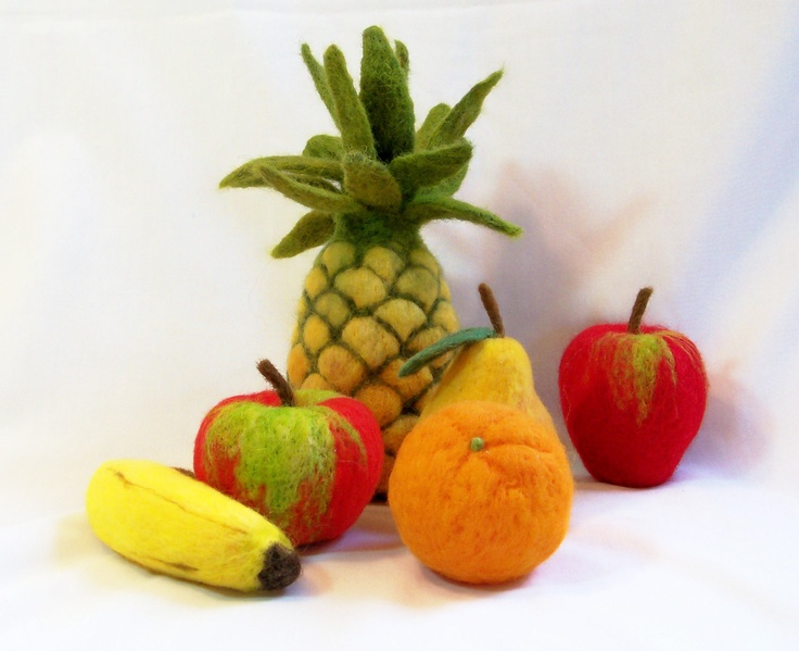Needle Felted Pineapple!