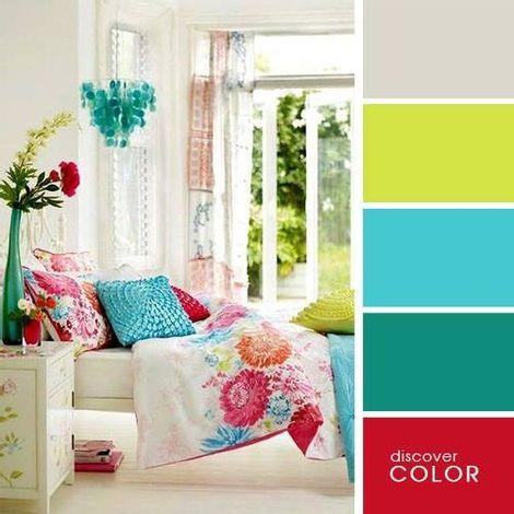 🎨 Enciclopedia de paletas de colores para interiores. Ideas Para, Palette, House Styles, Bed, Painting, Furniture, Home Decor, Lettering, Scandinavian Apartment