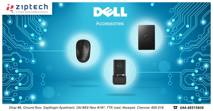 Great and Huge collections of Dell accessories available @ Ziptech Alwarpet. Also Shop for Dell Desktops and Laptops from our store. Call us for more details @ 044-48515606