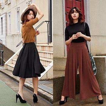 二階堂ふみがハンサムに着こなす、秋の絶品スカート&スカンツ
