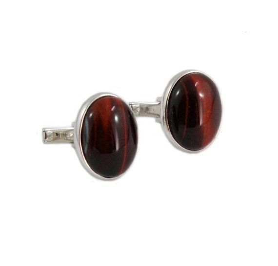 Red tiger eye falcon eye oval cabochon pair by SARAHHUGHESfinegems