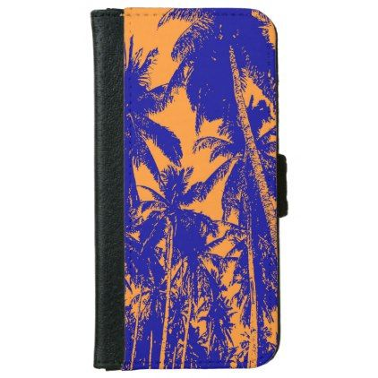Palm Trees in a Posterised Design iPhone 6/6s Wallet Case - pattern sample design template diy cyo customize