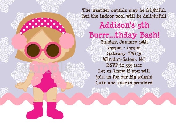 17 Best images about Milanis 8th Birthday Pool Party theme on – Winter Pool Party Invitations