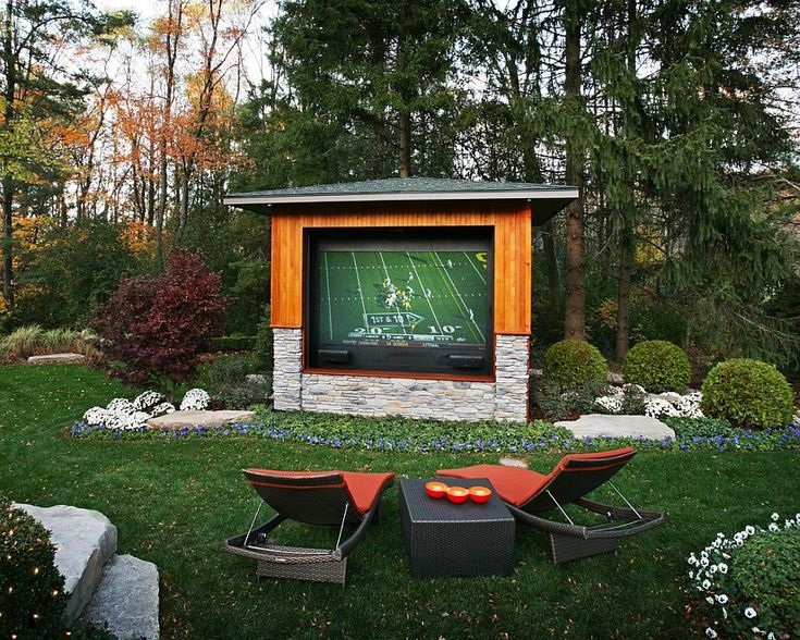 Rear projector TV with weather controlled case for the outdoor TV experience - Decoist