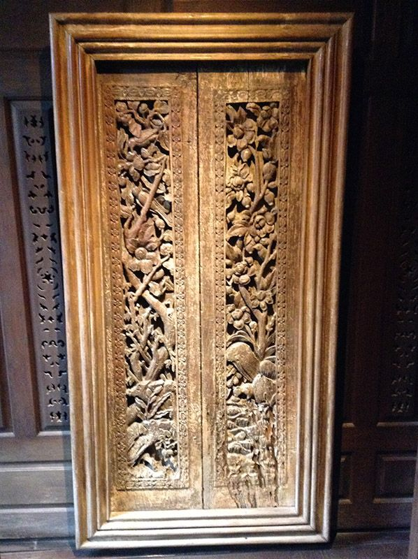 Wooden door found at Jim Thompson house in Bangkok Thailand. & 145 best Doors images on Pinterest | Door knockers Wooden doors ... pezcame.com