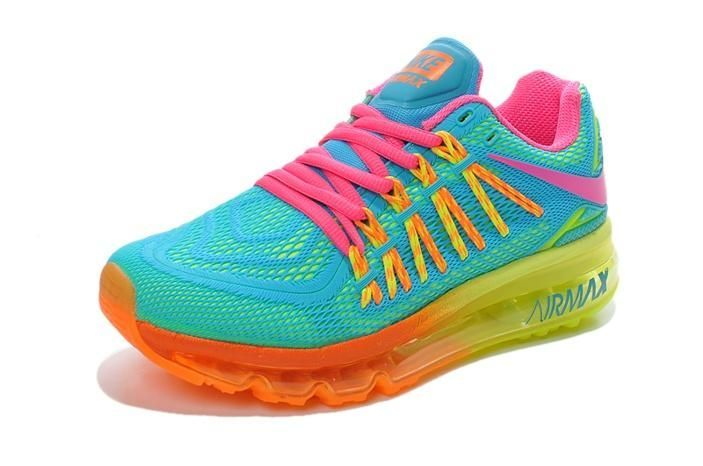 hot sales 9f348 72f1f Nike Air Max 2015 Womens Shoes TPU KPU Hot Green Pink Yellow New 02 2