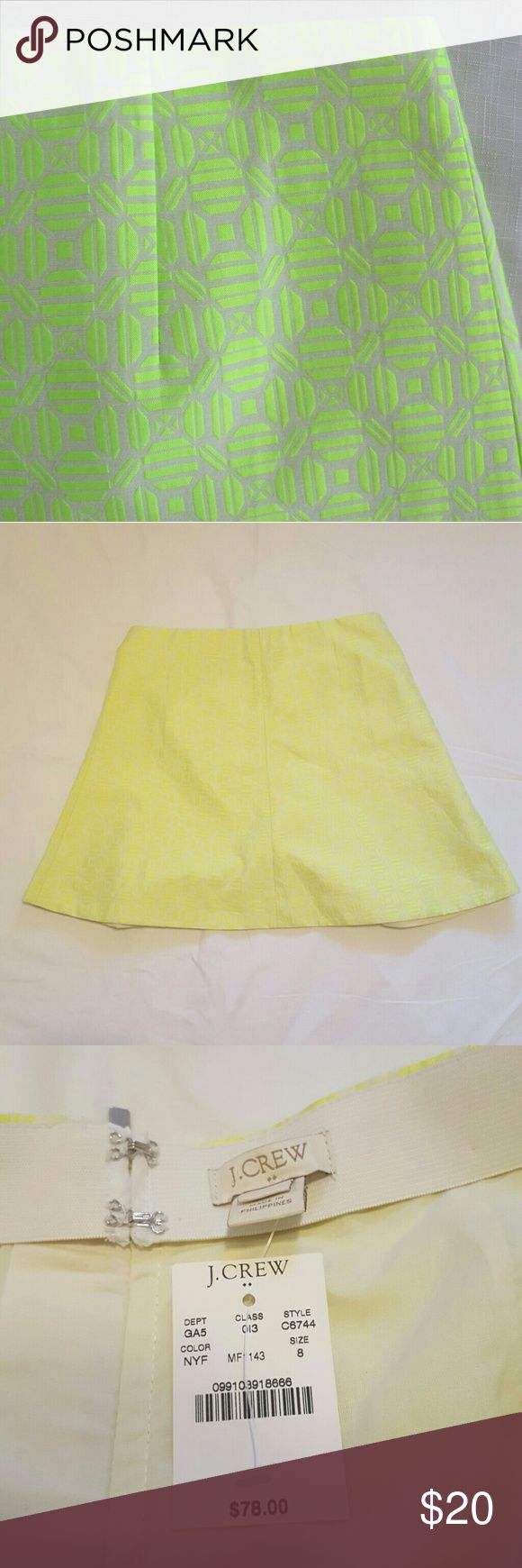 J Crew NWT Neon Yellow Skirt Neon yellow skirt. New with tags. Smoke-free home. Offers accepted. J. Crew Factory Skirts