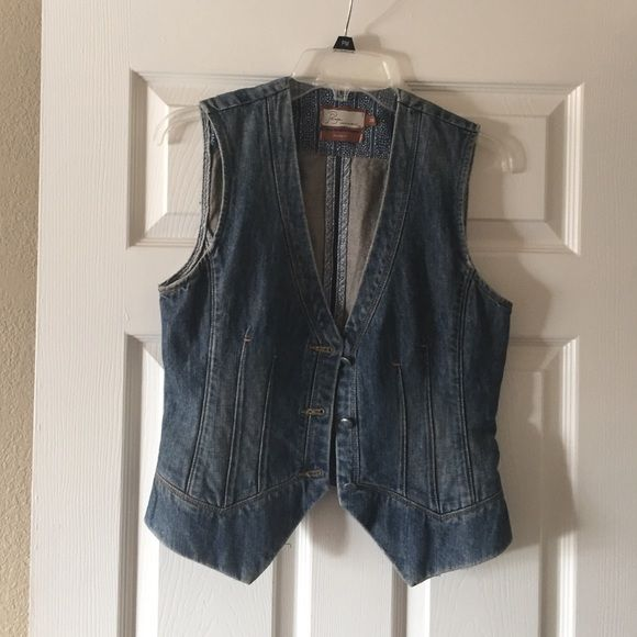 Paige premium denim vest Never worn awesome best perfect for festival time.  No tags.  Three buttons in front Paige Jeans Tops